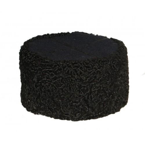 1109 Шапка кубанка из каракуля черная с черным верхом