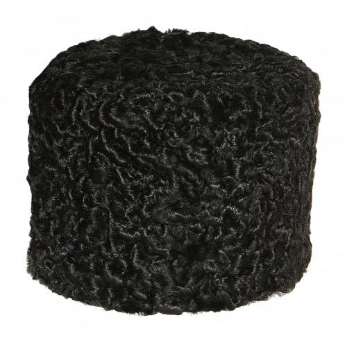 1104 Шапка колпак из каракуля черная.