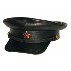 А016 КОЖАНЫЙ КАРТУЗ ОФИЦЕРА НКВД