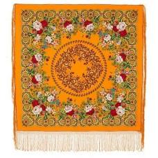 Многоцветные с шелковой вязаной бахромой 148х148см