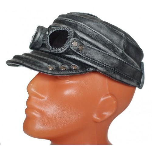 Кепка мужская кожа с очками