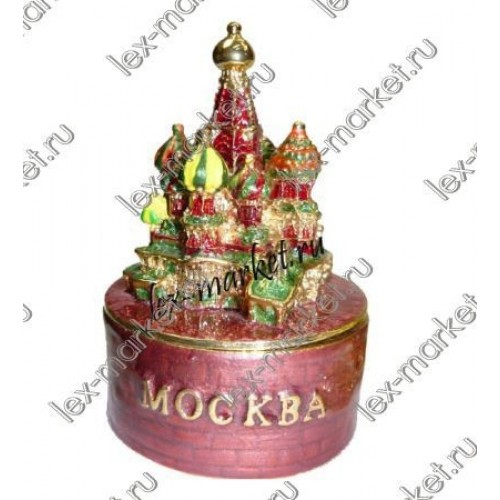 Шкатулка «Храм Василия Блаженного» (0016)