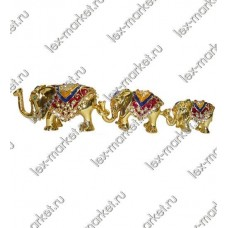 Шкатулка «Три слона» (0014)