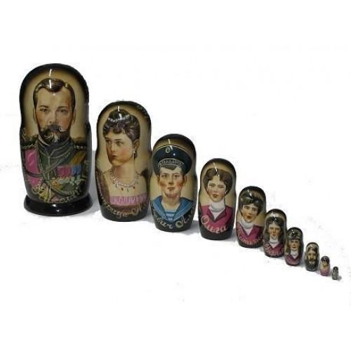 Матрёшка Николай II семья